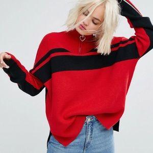 Lazy Oaf High neck quarter zip sweater jumper